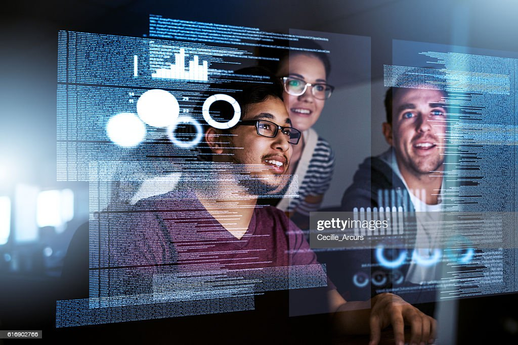 Dedicated to software development : Stock Photo
