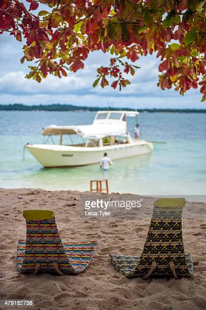 Dedon furniture on the beach at Guyam Island a small island off the coast of Siargao in the eastern Philippines Dedon Island resort the 'outdoor lab'...