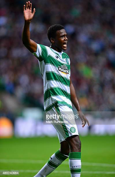 Dedryck Boyata of Celtic in action during the UEFA Champions League Qualifying play off first leg match between Celtic FC and Malmo FF at Celtic Park...
