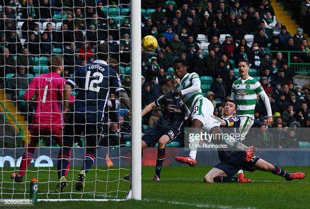 Dedryck Boyata of Celtic scores a goal at the start of the second half during the Ladbrokes Scottish Premiership match between Celtic and Ross County...