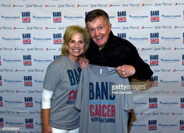 Dee Anna Smith CEO Sarah Cannon and singersongwriter Bill Anderson attend radio remotes at the Brad Paisley LOVE AND WAR Album Launch and 2017 Sarah...