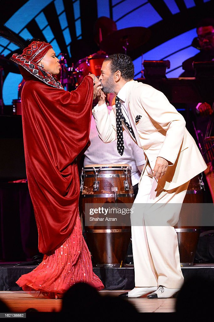Dee Dee Bridgewater and Director and Choreographer Maurice Hines during Apollo Club Harlem at The Apollo Theater on February 18, 2013 in New York City.