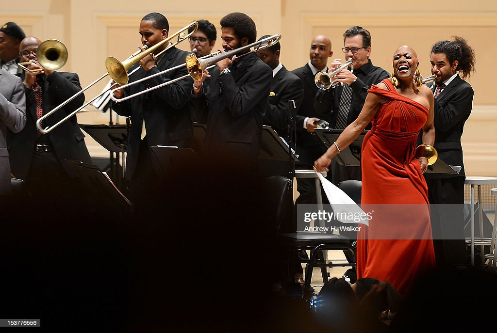 Dee Dee Bridgewater and The New Orleans Jazz Orchestra perform at Carnegie Hall on October 8, 2012 in New York, New York.