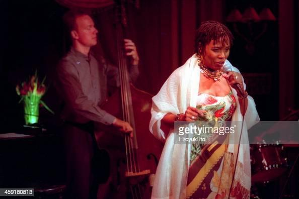 Dee Dee Bridgewater performing at Feinstein's at the Regency on Thursday night September 28 2000This imageDee Dee Bridgewater with Thomas Bramerie on...