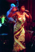Dee Dee Bridgewater performing at Feinstein's at the Regency on Thursday night September 28 2000This imageDee Dee Bridgewater with Thomas Bramerie on...