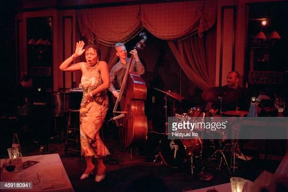 Dee Dee Bridgewater performing at Feinstein's at the Regency on Thursday night September 28 2000This imageFrom left Thierry Eliez Dee Dee Bridgewater...