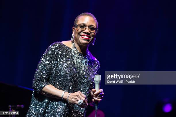Dee Dee Bridgewater performs at L'Olympia on July 1 2013 in Paris France