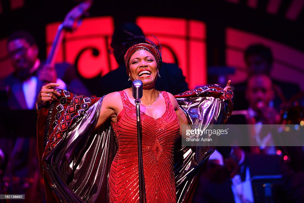 Dee Dee Bridgewater performs during Apollo Club Harlem at The Apollo Theater on February 18, 2013 in New York City.