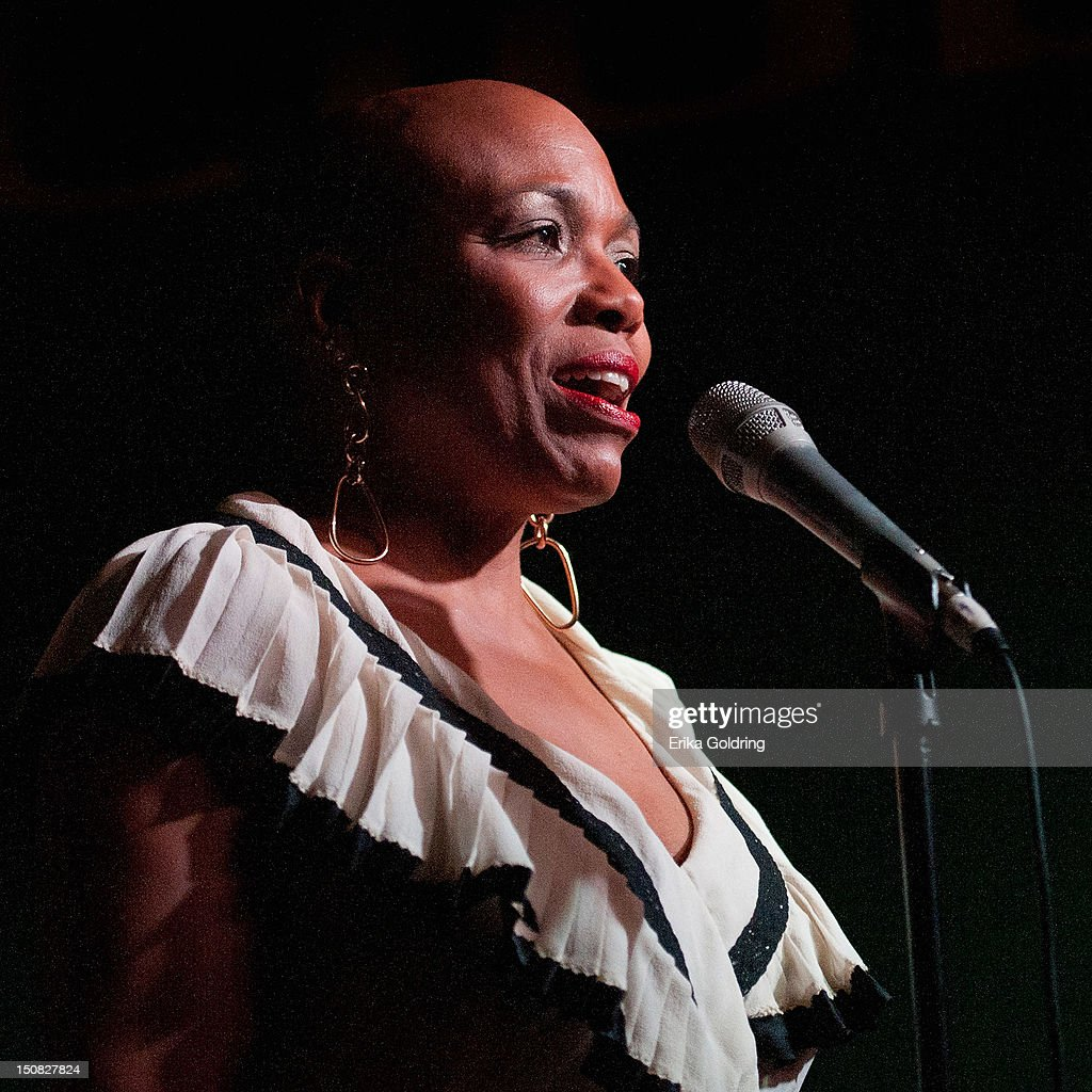 Dee Dee Bridgewater performs during Love Moments: A Festival of Giving at Irvin Mayfield's I Club on August 26, 2012 in New Orleans, Louisiana.