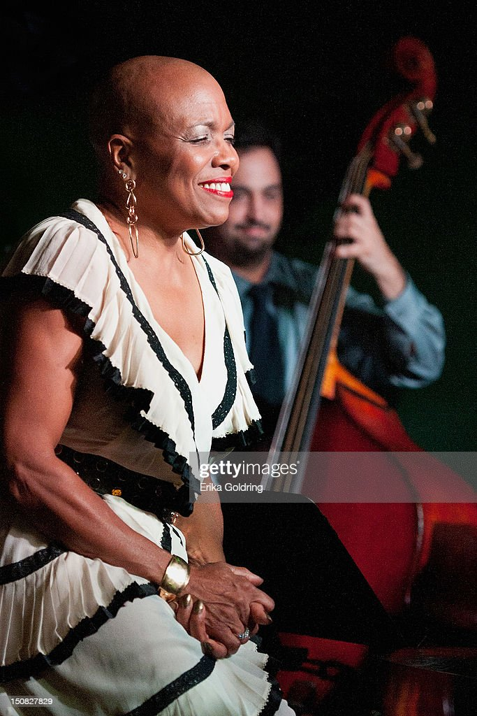 <a gi-track='captionPersonalityLinkClicked' href=/galleries/search?phrase=Dee+Dee+Bridgewater&family=editorial&specificpeople=2518501 ng-click='$event.stopPropagation()'>Dee Dee Bridgewater</a> performs during Love Moments: A Festival of Giving at Irvin Mayfield's I Club on August 26, 2012 in New Orleans, Louisiana.