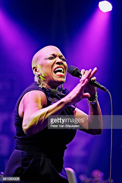 Dee Dee Bridgewater performs live on stage at Port Of Rotterdam on July 11 2015 in Rotterdam Netherlands