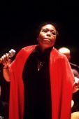 Dee Dee Bridgewater performs on stage at Ronnie Scott's Charity Gala London 1999