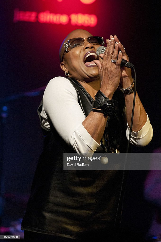 <a gi-track='captionPersonalityLinkClicked' href=/galleries/search?phrase=Dee+Dee+Bridgewater&family=editorial&specificpeople=2518501 ng-click='$event.stopPropagation()'>Dee Dee Bridgewater</a> performs on stage at Ronnie Scott's for the London Jazz Festival on November 16, 2012 in London, United Kingdom.