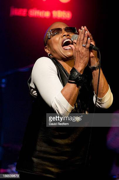 Dee Dee Bridgewater performs on stage at Ronnie Scott's for the London Jazz Festival on November 16 2012 in London United Kingdom