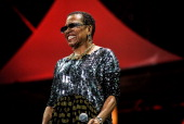Dee Dee Bridgewater performs on stage at the 2014 International Jazz Day Global Concert on April 30 2014 in Osaka Japan