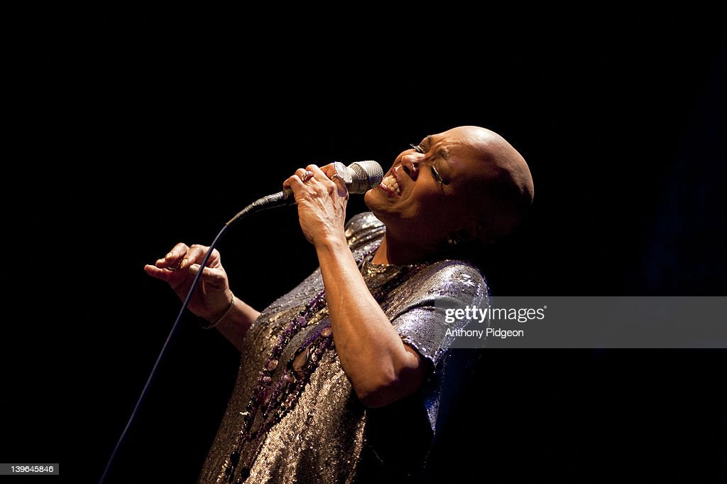 Dee Dee Bridgewater performs on stage at the PDX Jazz Festival at Newmark Theater on February 23 2012 in Portland Oregon