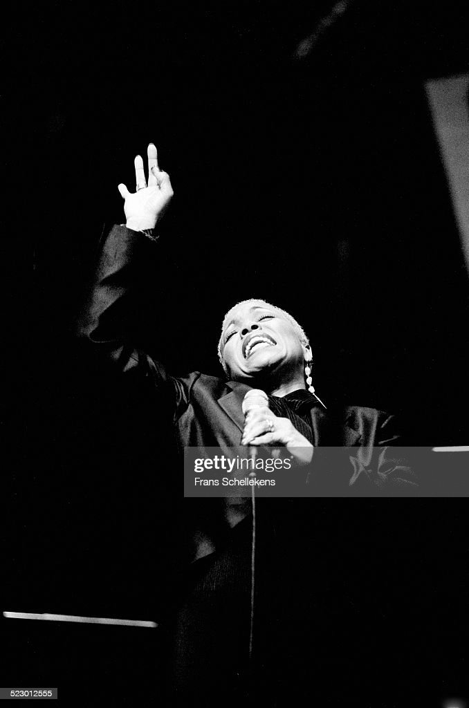 Dee Dee Bridgewater vocal performs at the Concertgebouw on November 3rd 1997 in Amsterdam the Netherlands