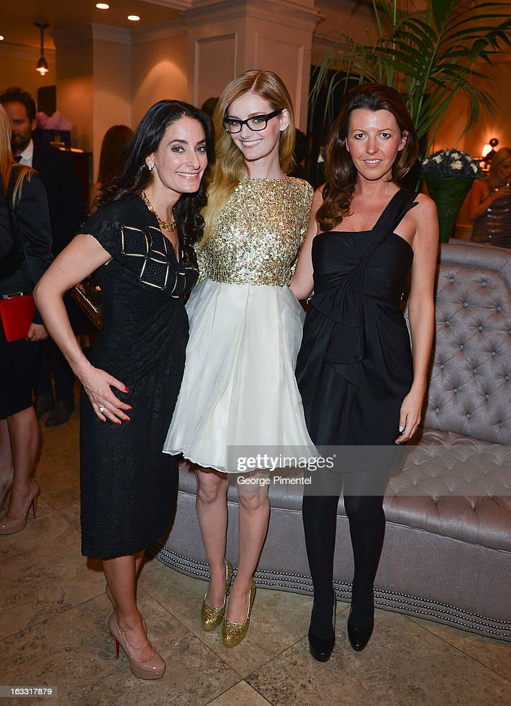 Dee Dee Sides, <a gi-track='captionPersonalityLinkClicked' href=/galleries/search?phrase=Lydia+Hearst&family=editorial&specificpeople=221723 ng-click='$event.stopPropagation()'>Lydia Hearst</a> and Lalena Nau attend Operation Smile's Toronto Smile Event at Windsor Arms Hotel on March 7, 2013 in Toronto, Canada.