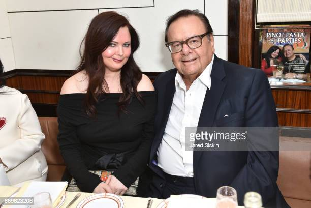 Dee Dee Sorvino and Paul Sorvino attend Dinner for Dee Dee Paul Sorvino's book 'Pinot Pasta and Parties' at Harry Cipriani on April 17 2017 in New...