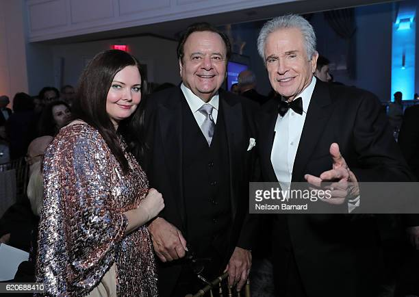 Dee Dee Benkie Paul Sorvino and Warren Beatty attend Museum Of The Moving Image 30th Annual Salute honoring Warren Beatty at 583 Park Avenue on...
