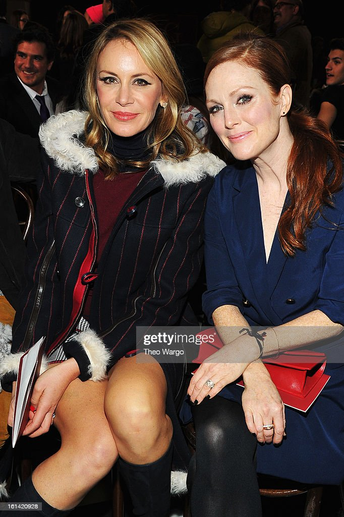Dee Hilfiger and actress <a gi-track='captionPersonalityLinkClicked' href=/galleries/search?phrase=Julianne+Moore&family=editorial&specificpeople=171555 ng-click='$event.stopPropagation()'>Julianne Moore</a> attend the Tommy Hilfiger Fall 2013 Women's Collection fashion show during Mercedes-Benz Fashion Week at the Park Avenue Armory on February 10, 2013 in New York City.