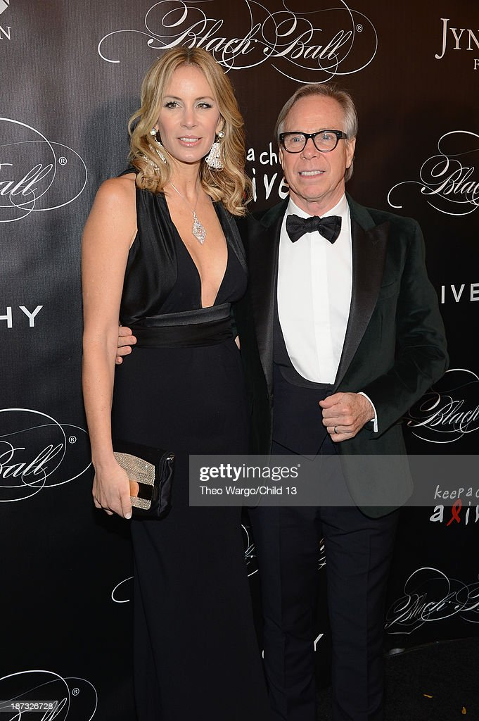 Dee Hilfiger and Tommy Hilfiger attend Keep A Child Alive's 10th Annual Black Ball at Hammerstein Ballroom on November 7, 2013 in New York City.