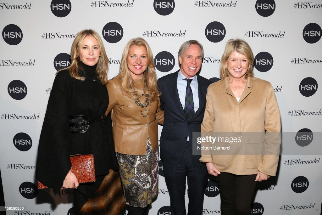 Dee Hilfiger, CEO HSNi Mindy Grossman, Tommy Hilfiger and <a gi-track='captionPersonalityLinkClicked' href=/galleries/search?phrase=Martha+Stewart&family=editorial&specificpeople=202905 ng-click='$event.stopPropagation()'>Martha Stewart</a> attend the celebration of HSN Digital Redesign at Marquee New York on January 16, 2013 in New York City.