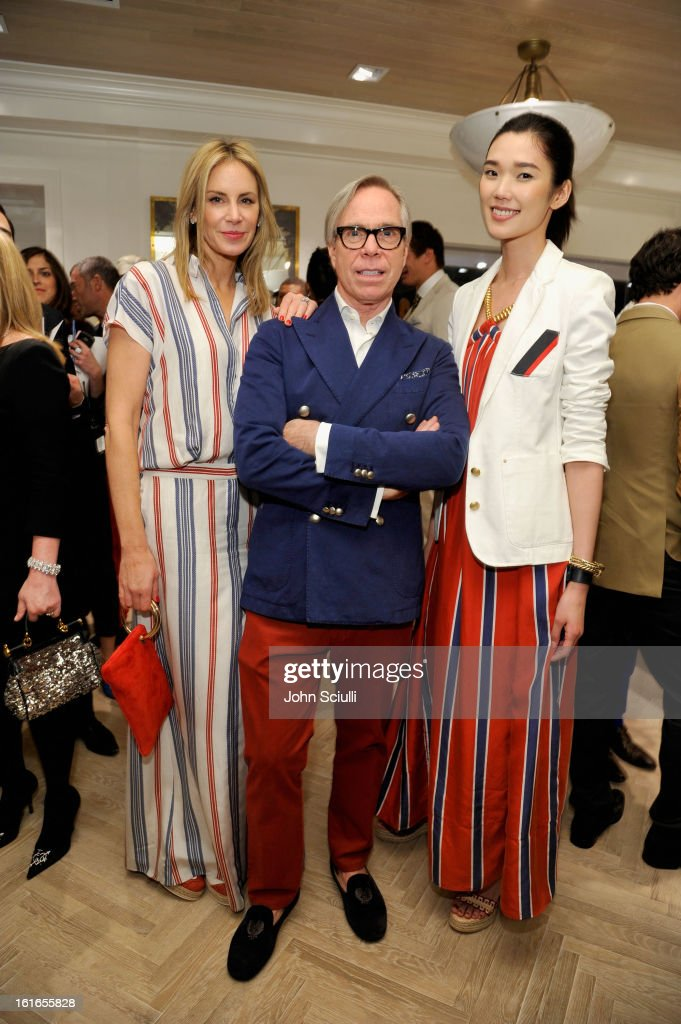 Dee Hilfiger, fashion designer Tommy Hilfiger and attend Tommy Hilfiger New West Coast Flagship Opening on Robertson Boulevard on February 13, 2013 in West Hollywood, California.