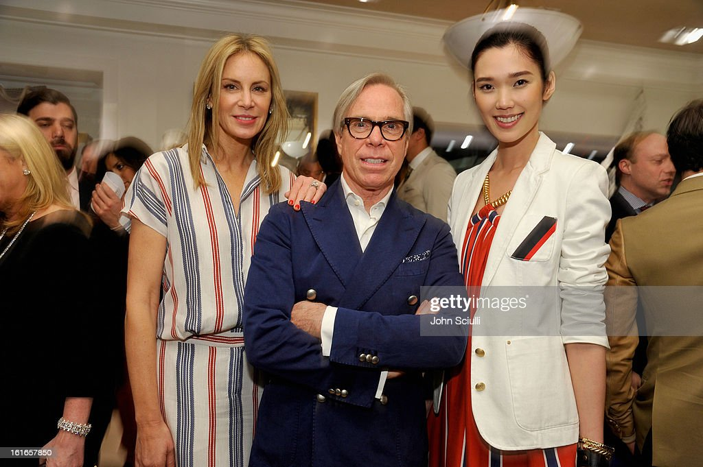 Dee Hilfiger, fashion designer Tommy Hilfiger and model attend Tommy Hilfiger New West Coast Flagship Opening on Robertson Boulevard on February 13, 2013 in West Hollywood, California.