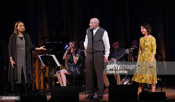 Dee Hoty Stephen Lee Anderson and Carmen Cusack on stage during 'Bright Star' In Concert at Town Hall on December 12 2016 in New York City