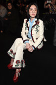 Dee Hsu attends the Gucci show during Milan Fashion Week Fall/Winter 2016/17 on February 24 2016 in Milan Italy