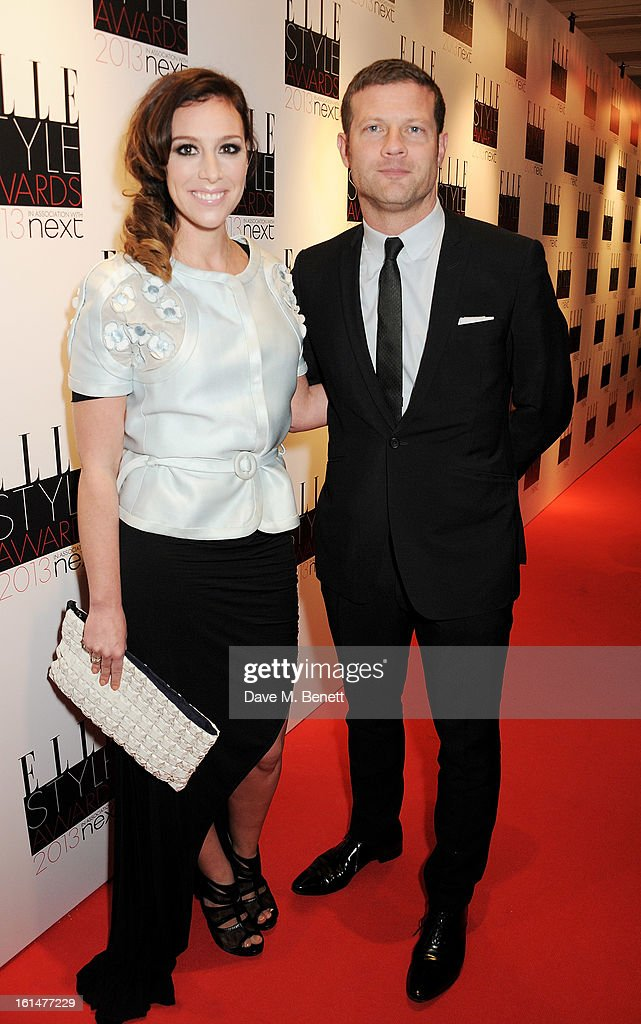 Dee Koppang (L) and Dermot O'Leary arrive at the Elle Style Awards at The Savoy Hotel on February 11, 2013 in London, England.
