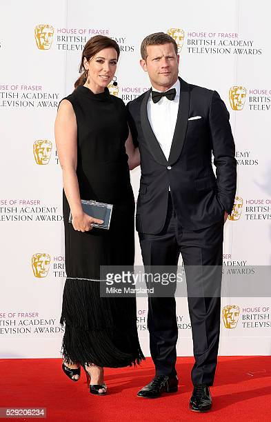 Dee Koppang and Dermot O'Leary arrive for the House Of Fraser British Academy Television Awards 2016 at the Royal Festival Hall on May 8 2016 in...