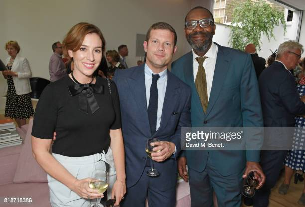 Dee Koppang O'Leary Dermot O'Leary and Sir Lenny Henry attend the Mayor of London's Summer Culture Reception on July 18 2017 in London England