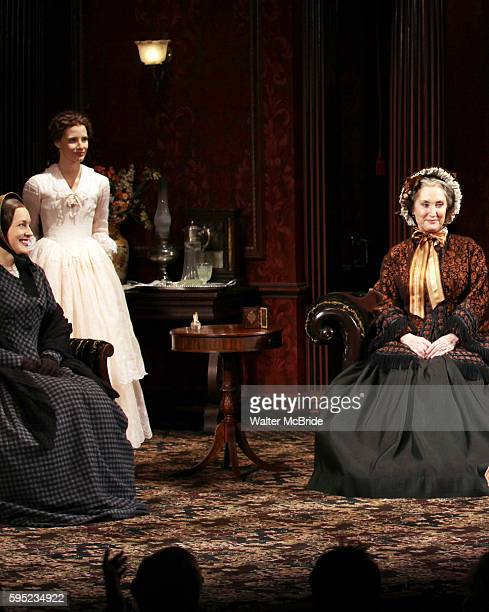 Dee Nelson Jessica Chastain Caitlin O'Connell during the Broadway Opening Night Performance Curtain Call for 'The Heiress' at The Walter Kerr Theatre...