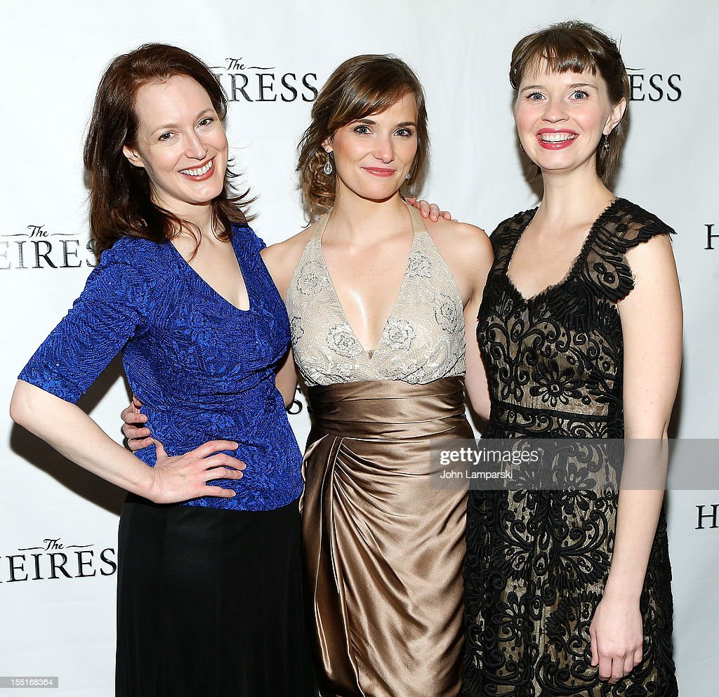 Dee Nelson, Mairin Lee and Molly Camp attend the after party following the Broadway revival opening night of 'The Heiress'>> at The Edison Ballroom on November 1, 2012 in New York City.