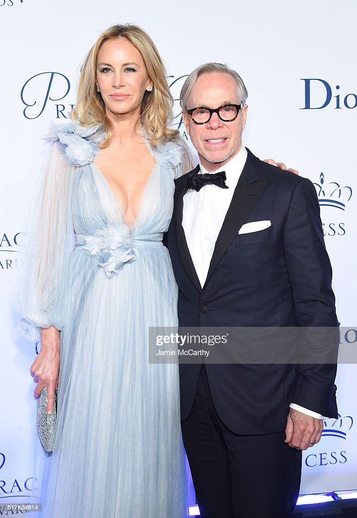 Dee Ocleppo and Tommy Hilfiger attend the 2016 Princess Grace awards gala at Cipriani 25 Broadway on October 24, 2016 in New York City.