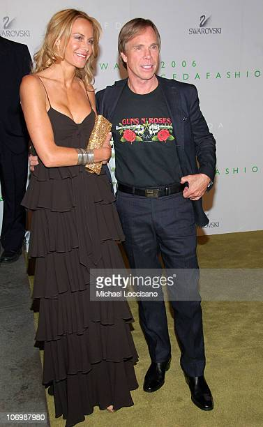 Dee Ocleppo and Tommy Hilfiger during 2006 CFDA Awards Arrivals at New York Public Library in New York City New York United States