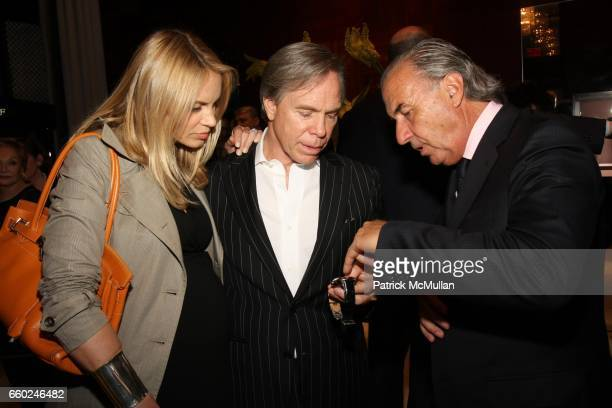 Dee Ocleppo Tommy Hilfiger and Michel Pitteloud attend The Private Unveiling of GRAFF Time Watch Collection 1 at Graff on June 11 2009 in New York...