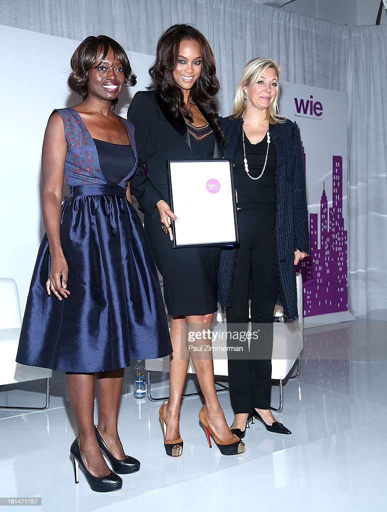 Dee Poku, Tyra Banks and Nadja Swarovski attend the 4th Annual WIE Symposiumat Center 548 on September 21, 2013 in New York City.