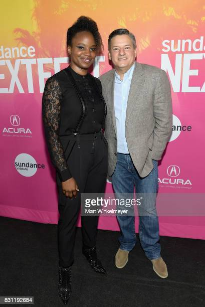 Dee Rees and Netflix chief content officer Ted Sarandos attend 2017 Sundance NEXT FEST at The Theater at The Ace Hotel on August 13 2017 in Los...