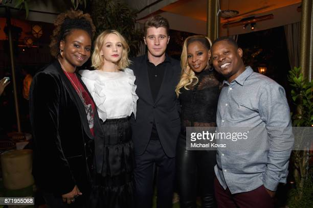 Dee Rees Carey Mulligan Garrett Hedlund Mary J Blige and Jason Mitchell at 'Mudbound' Special Screening at Chateau Marmont on November 8 2017 in Los...
