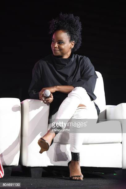 Dee Rees speaks onstage at the 2017 ESSENCE Festival presented by CocaCola at Ernest N Morial Convention Center on June 30 2017 in New Orleans...