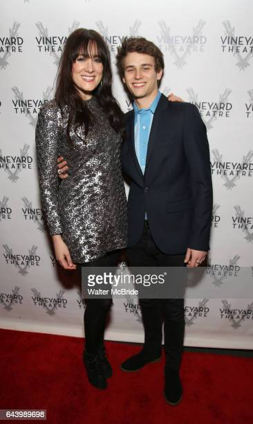 Dee Roscioli and Brandon Flynn attends the opening night performance photo call of the Vineyard Theatre's 'Kid Victory' at the Vineyard Theatre on...