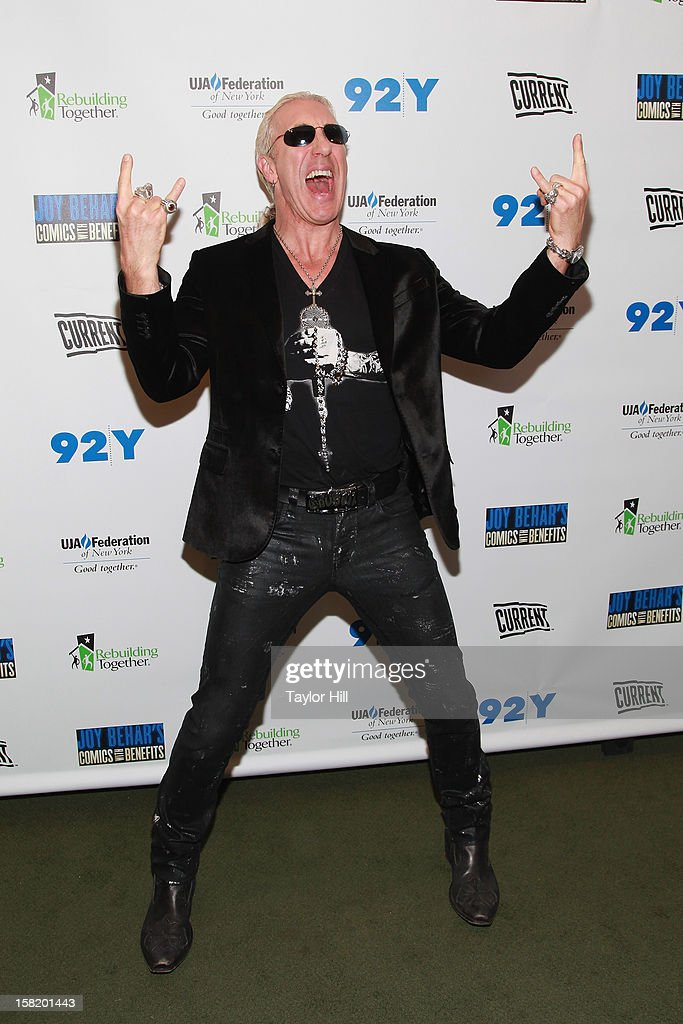 Dee Snider of Twisted Sister attends Joy Behar's Comics with Benefits: A Special Night Of Comedy Benefiting Victims Of Hurricane Sandy at 92nd Street Y on December 10, 2012 in New York City. The special will air on current.tv on December 14th at 9 p.m. EST.