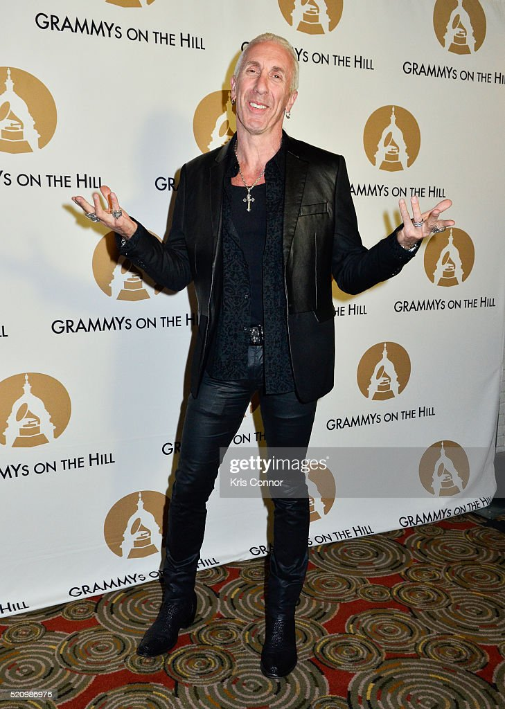 Dee Snider poses on the red carpet during 2016 Grammys On The Hill Awards at The Hamilton on April 13 2016 in Washington DC