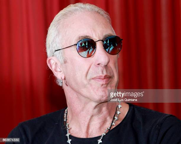 Dee Snider singer of the heavy metal band Twisted Sister looks on during a press conference where he announced his performance at 'Scream Bolivia...