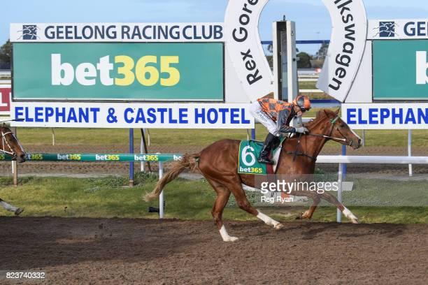 Deecember ridden by Ben Allen wins the Bet365 Geelong Cup 25/10 Book Now BM58 Handicap at Geelong Synthetic Racecourse on July 28 2017 in Geelong...