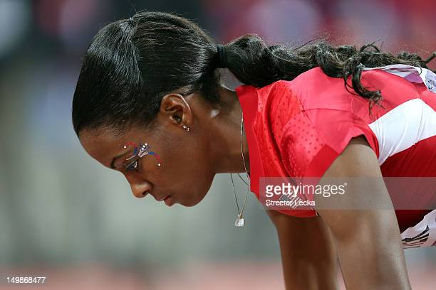 DeeDee Trotter of the United States competes in the Women's 400m Final on Day 9 of the London 2012 Olympic Games at the Olympic Stadium on August 5...