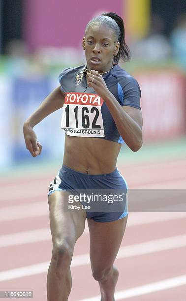 DeeDee Trotter of the United States finished sixth in first round heat of the 400 meters in 5217 seconds to advance to the second round in the IAAF...